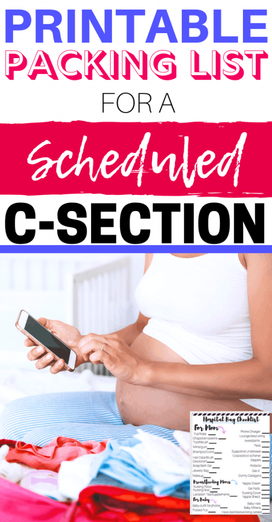 A Simple C-Section Hospital Bag Checklist ...