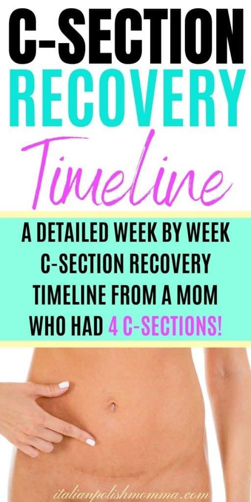 C-Section Recovery Timeline - italianpolishmomma.com